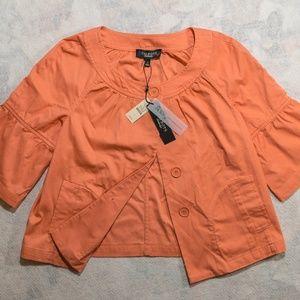 NEW $99 Talbots Size 4 Jackie Fit Peach Shirt
